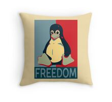 Tux Freedom for Linux Users Throw Pillow