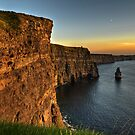 Scenic Irish Sunset Nature Landscape Rural Countryside Photography. The Cliffs of Moher Mohair Seascape, County Clare, Ireland Irlanda. by Noel Moore Up The Banner Photography