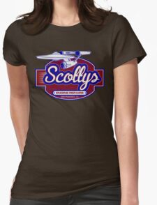 Scotty's Engine Repairs Womens Fitted T-Shirt