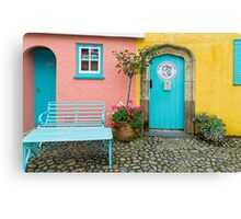 The colours of Portmeirion Canvas Print