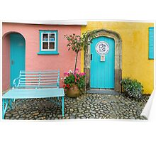 The colours of Portmeirion Poster