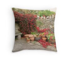 A peaceful corner Throw Pillow