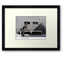 arrrr look at all the lonely people.. Framed Print