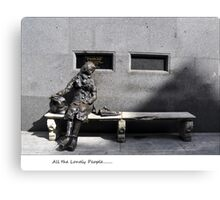 arrrr look at all the lonely people.. Canvas Print
