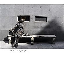 arrrr look at all the lonely people.. Photographic Print