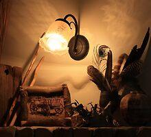 Cabin Mantelpiece & Rustic Memoirs by aussiebushstick
