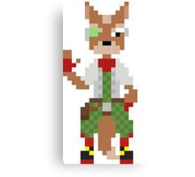 Star Fox Pixel  Canvas Print