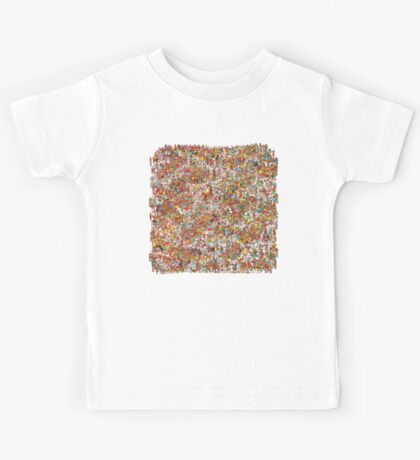 Where is wally in this product? Kids Tee