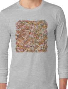 Where is wally in this product? Long Sleeve T-Shirt