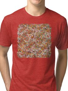 Where is wally in this product? Tri-blend T-Shirt