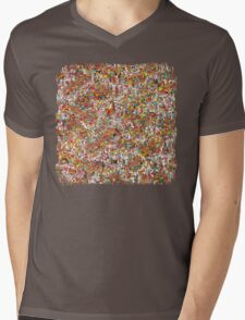 Where is wally in this product? Mens V-Neck T-Shirt
