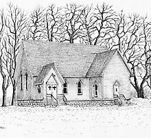 Country Church by Jack G Brauer