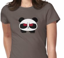 A very upset panda Womens Fitted T-Shirt