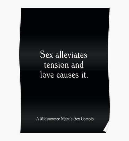 A Midsummer Night's Sex Comedy - Woody Allen's Greatest Lines Poster