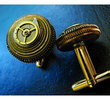 Working Clockwork Cufflinks- Steampunk, Victorian Photographic Print