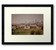 Greenwich to Canary Wharf Framed Print
