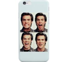 Jim Carrey faces in color iPhone Case/Skin
