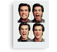 Jim Carrey faces in color Canvas Print