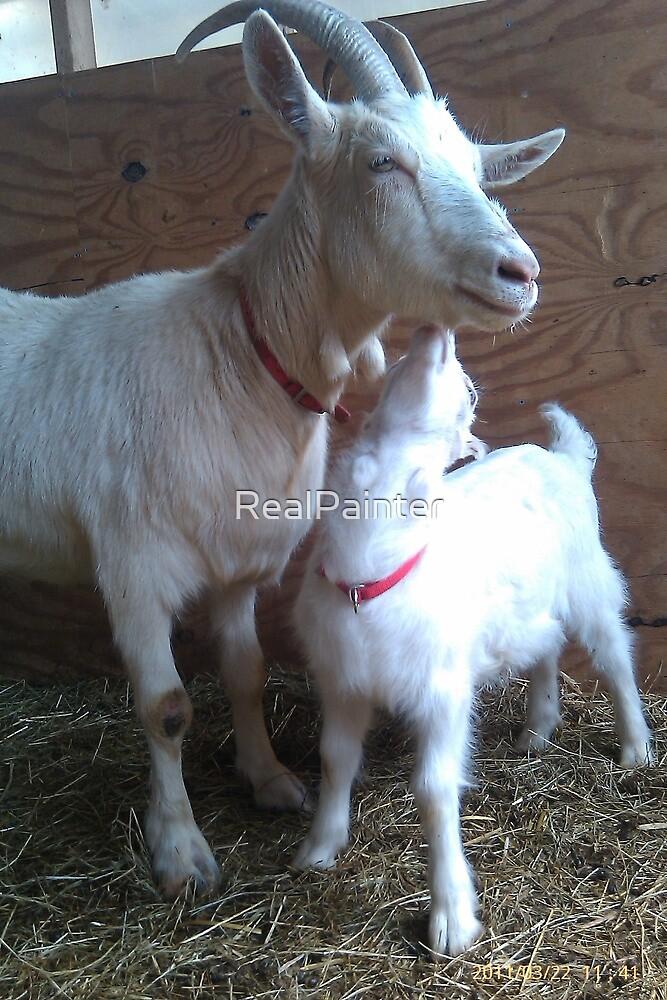 Goat Kisses by RealPainter