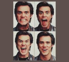 Jim Carrey faces in color One Piece - Short Sleeve