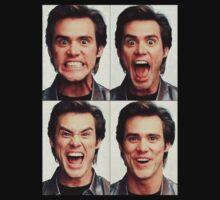 Jim Carrey faces in color Kids Tee