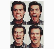 Jim Carrey faces in color Baby Tee