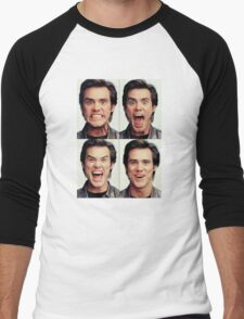 Jim Carrey faces in color Men's Baseball ¾ T-Shirt