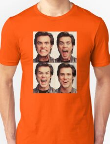 Jim Carrey faces in color T-Shirt