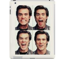 Jim Carrey faces in color iPad Case/Skin