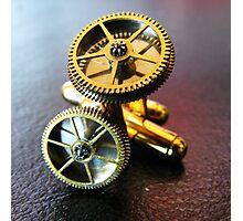 Simple Gear Cufflinks - Steampunk, Victorian Photographic Print