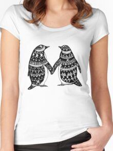 Penguin Couple Women's Fitted Scoop T-Shirt