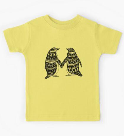 Penguin Couple Kids Tee