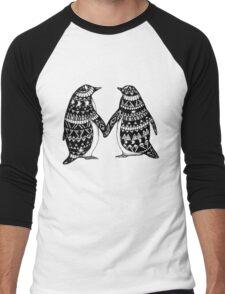 Penguin Couple Men's Baseball ¾ T-Shirt