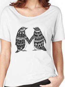 Penguin Couple Women's Relaxed Fit T-Shirt
