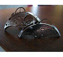 Antique Diamond Cufflinks - Steampunk, Victorian Photographic Print