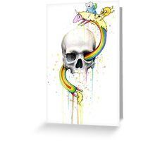 Deathventure Time! Greeting Card