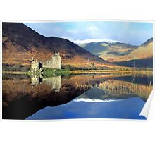 First Snows of Winter, Kilchurn Castle, Loch Awe, Argyll Poster