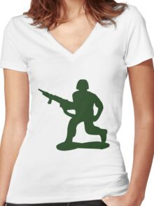 Army Man Women's Fitted V-Neck T-Shirt