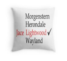 TMI/Shadowhunters - Jace Throw Pillow