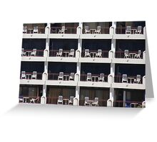 Balcony Plastic Chairs Greeting Card