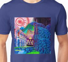 HOPPING at the ZOMBIE JAMBOREE - Techno-colour version Unisex T-Shirt