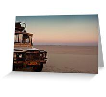 Drive to the edge of sundown Greeting Card