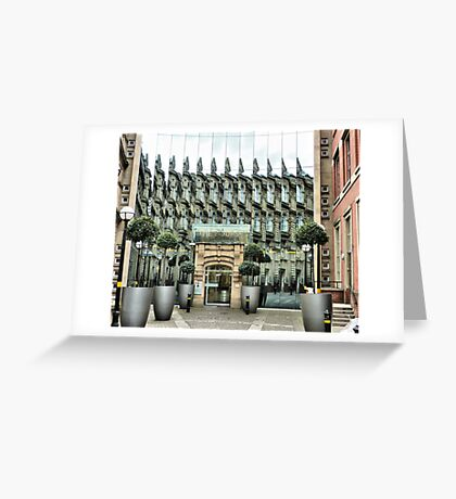 The Bourse. Leeds Greeting Card