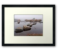 Stepping Stones into the Mist Framed Print