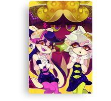 Splatoon - Squid Sisters & Dj Octavio Canvas Print