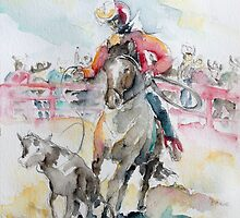 Calf Roping by Barbara Pommerenke