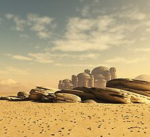 Desert Town Swallowed by the Sand by algoldesigns