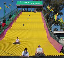 Screaming Yellow Slide by Judy Wanamaker