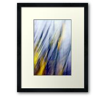 An April Afternoon Abstract Impressionism Framed Print