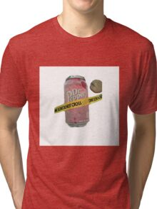 Crime Scene Dr Pepper Tri-blend T-Shirt